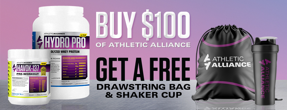Get a FREE drawstring bag & shaker cup!