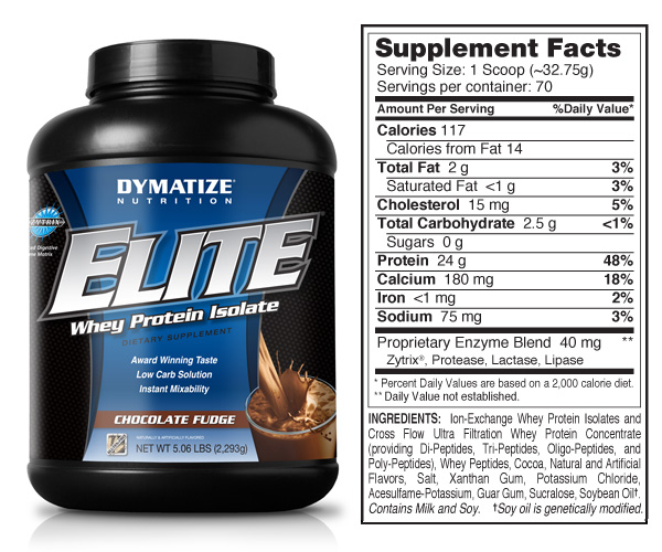 Dymatize Nutrition Elite Whey - 5 lb Chocolate Fudge