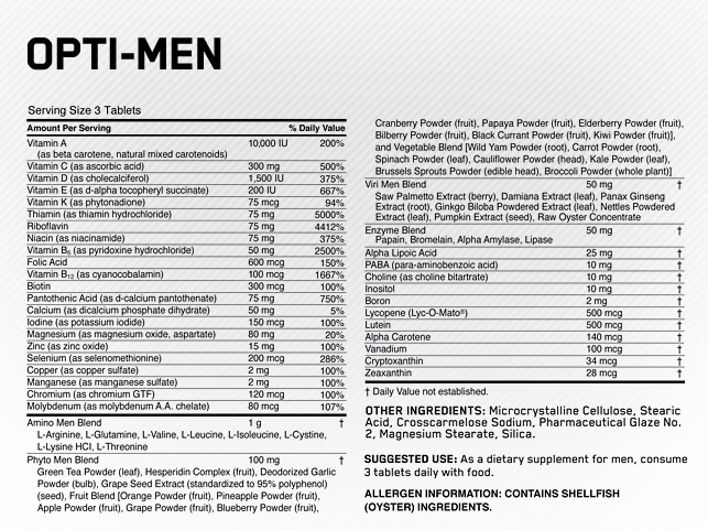 Image result for optimum nutrition opti men nutrition